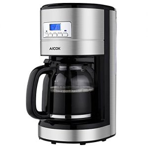 Aicok-Coffee-Maker-12-Cups-Programmable-Coffee-Maker-with-Timer-Coffee-Pot-and-Reusable-Filter-Stainless-Steel-0