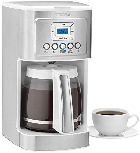 Cuisinart Dcc 3200w 14c Gl Carafe With Stainless Steel Handle Programmable Coffeemaker White Tanbrewer