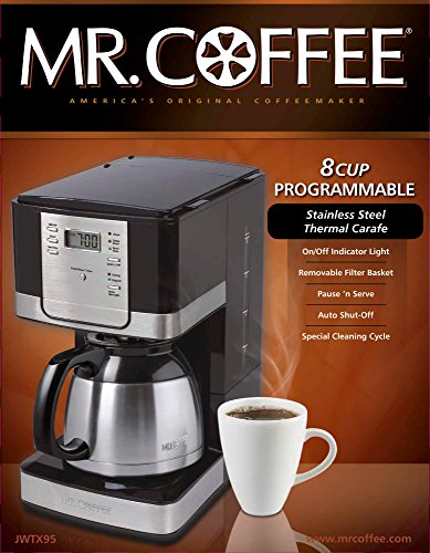 Mr Coffee Jwx23 12 Cup Programmable Coffeemaker Black