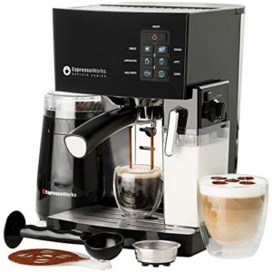 EspressoWorks 10 Pc All-In-One Barista Bundle Espresso Machine